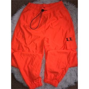 Orange fashionable joggers